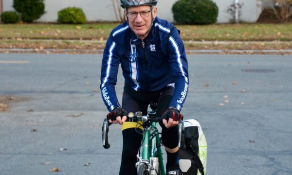 Patient David Kenney on bike