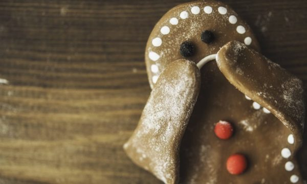 stressed out gingerbread man