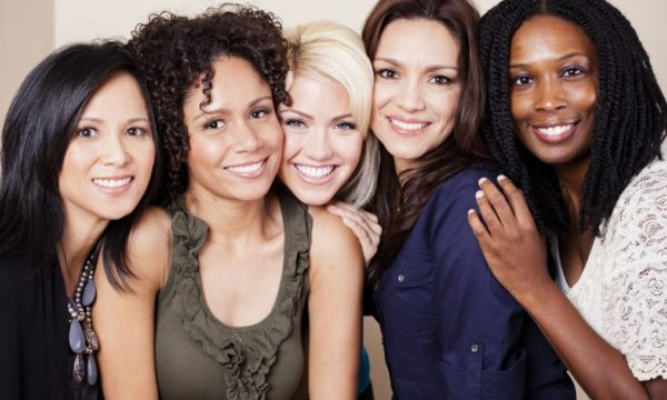 group of multicultural women