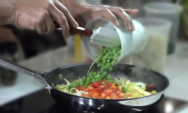 person cooking