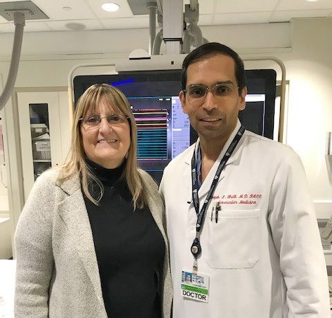 Dr Bhatt with Patient Ann Taylor