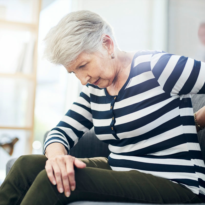 woman with aching back